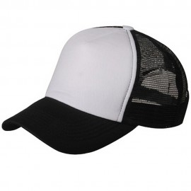 Cotton Trucker Cap-Black White