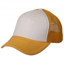 Cotton Trucker Cap-Gold White