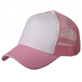 Cotton Trucker Cap-Light Pink White
