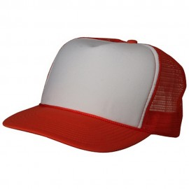 Foam Mesh Cap-White Orange