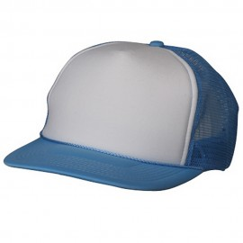 Foam Mesh Cap-White Light Blue
