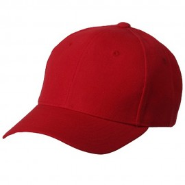 Fitted Cap-Red