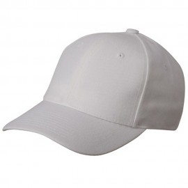 Fitted Cap-White