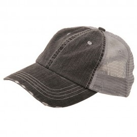 Low Profile Special Cotton Mesh Cap-Black