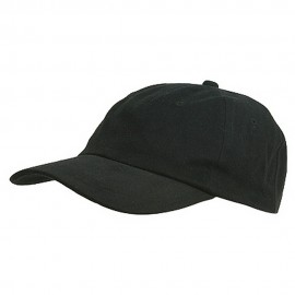 6 Panel Light Cotton Cap / Black
