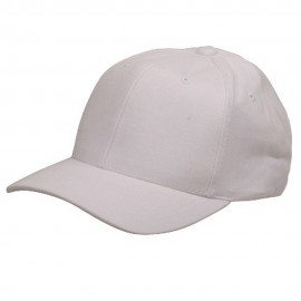 Ladies Brushed caps-White