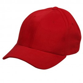 Ladies Brushed caps-Red