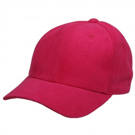 Ladies Brushed caps-Hot Pink