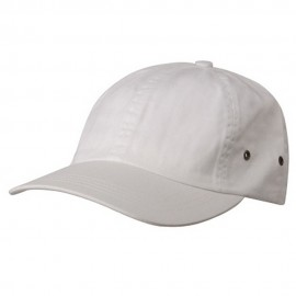 Normal Dyed Washed Caps-White
