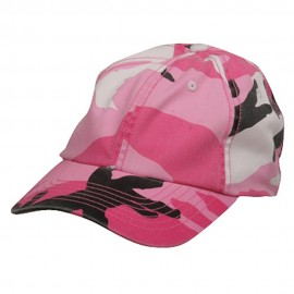 Enzyme Washed Camo Cap-Pink