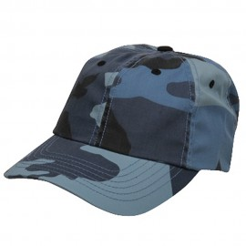 Enzyme Washed Camo Cap-Sky