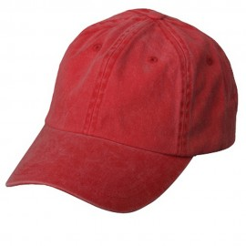 Pigment Dyed Wash Cap-Red