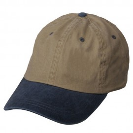 Pigment Dyed Wash Caps-Khaki Navy