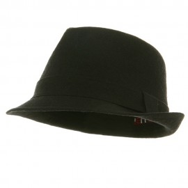 Big New Linen Fedora Hat - Black