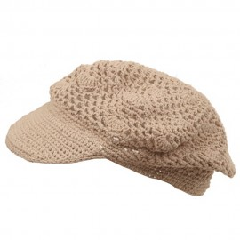 Crocheted Newsboy Hats(01)
