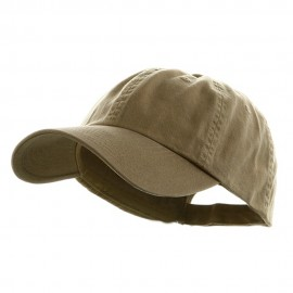 Low Profile Dyed Cotton Twill Cap - Khaki