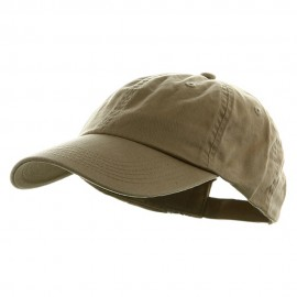 Washed Chino Twill Cap - Khaki