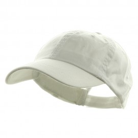 Washed Chino Twill Cap - White