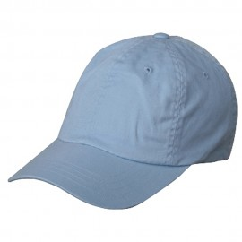 Washed Polo Cap (one size)-Sky