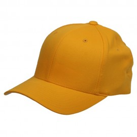 Wooly Combed Twill Flexfit Cap-Gold
