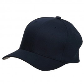 Wooly Combed Twill Flexfit Cap-Navy