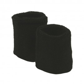 Wrist Band Pair (terry)-Black