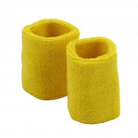 Wrist Band Pair (terry)-Yellow