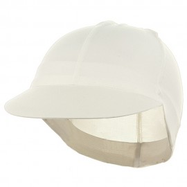 Solid Spandex Pin Wheel Visor Cap-White