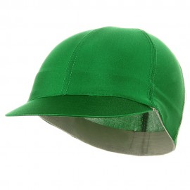 Solid Spandex Pin Wheel Visor Cap-Green