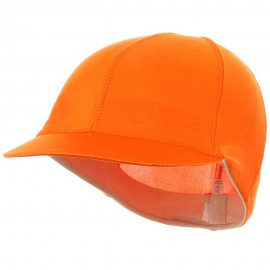 Solid Spandex Pin Wheel Visor Cap-Orange