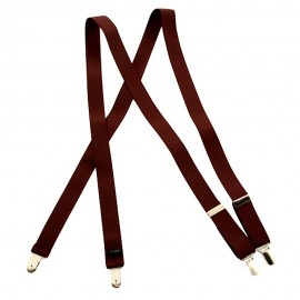 Dress Suspender- Burgundy Solid