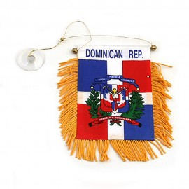 World Mini Banner-Dominican Republic