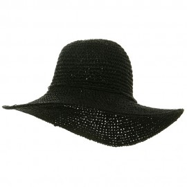 Ladies Hand Crocheted Hats-Black