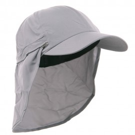 Zippered Flap Cap-Grey