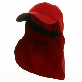 UV 45+ Zipper Flap Hats-Red