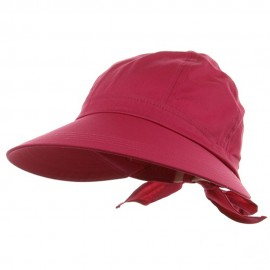 Solid Large Peak Hat-Fuchsia