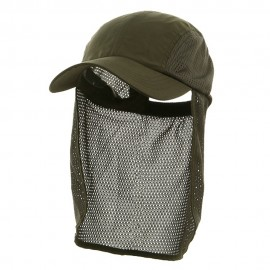 Flap Hat (01)-Dark Olive