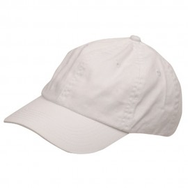 Youth Washed Chino Twill Cap-White