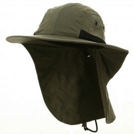UV 4 Panel Large Bill Flap Hat-Olive