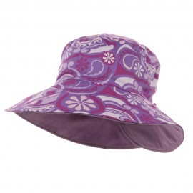 Ladies Floral Reversible Fashion Hat