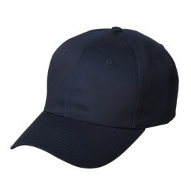 New High Profile Twill Caps-Navy