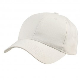 New Low Profile Organic Cotton Cap - White