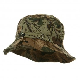 Pigment Dyed Bucket Hat-Leaf Camo