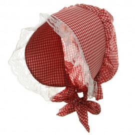 Bonnet Hat-Red White