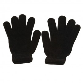 Woman Chenille Gloves-Black