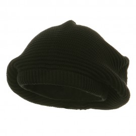 Medium Crown New rasta Beanie Hat - Black