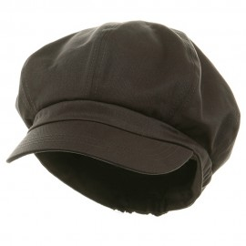 Big Size Cotton Newsboy Hat - Charcoal