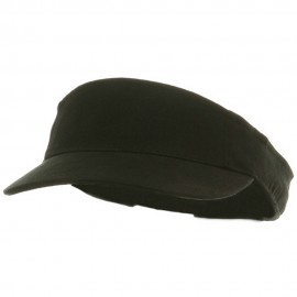 Kids Deluxe Cotton Visor-Black