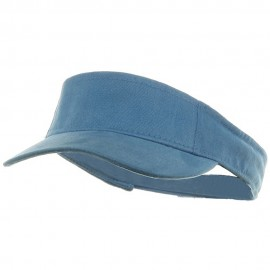 Kids Deluxe Cotton Visor-Sky