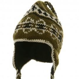 Ring Jacquard Knitting Beanie-Sage